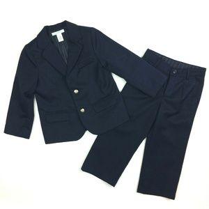 Janie & Jack 3T Navy Blue Wool Blend Lined Suit